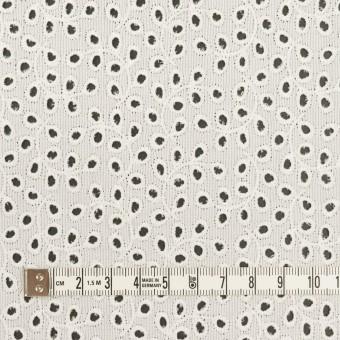 コットン×リーフ(オフホワイト)×ピケ刺繍 サムネイル4