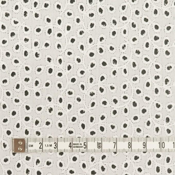 コットン×リーフ(オフホワイト)×ピケ刺繍 イメージ4