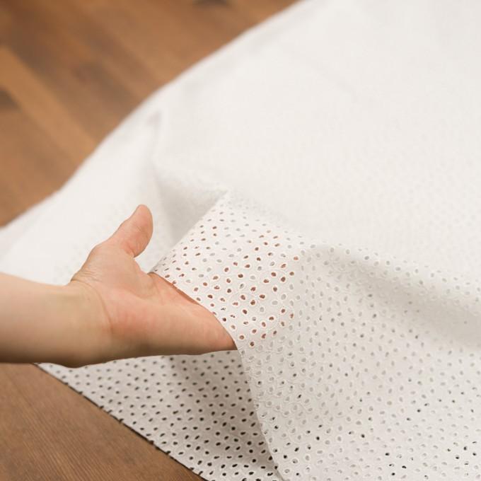 コットン×リーフ(オフホワイト)×ピケ刺繍 イメージ5