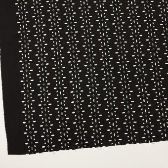 キュプラ×フラワー(ブラック)×ローン刺繍 サムネイル2