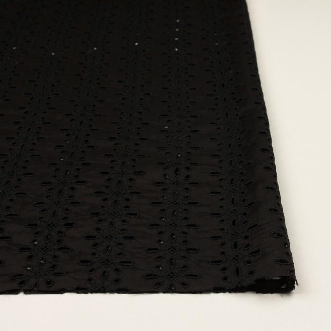 キュプラ×フラワー(ブラック)×ローン刺繍 イメージ3
