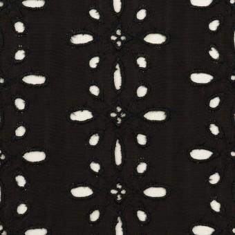 キュプラ×フラワー(ブラック)×ローン刺繍