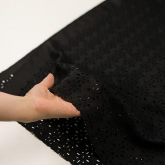 キュプラ×フラワー(ブラック)×ローン刺繍 サムネイル5
