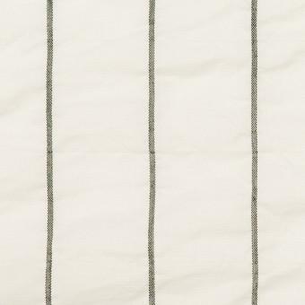 コットン&ポリエステル混×ストライプ(オフホワイト)×ローンシャーリング_全2色