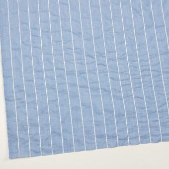 コットン&ポリエステル混×ストライプ(ブルー)×ローンシャーリング_全2色 サムネイル2