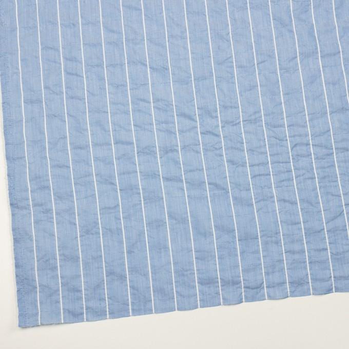 コットン&ポリエステル混×ストライプ(ブルー)×ローンシャーリング_全2色 イメージ2
