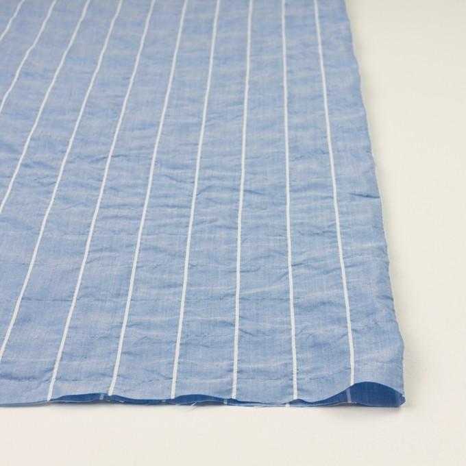 コットン&ポリエステル混×ストライプ(ブルー)×ローンシャーリング_全2色 イメージ3