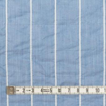 コットン&ポリエステル混×ストライプ(ブルー)×ローンシャーリング_全2色 サムネイル4