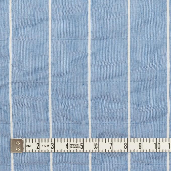 コットン&ポリエステル混×ストライプ(ブルー)×ローンシャーリング_全2色 イメージ4