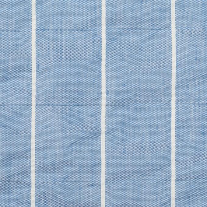 コットン&ポリエステル混×ストライプ(ブルー)×ローンシャーリング_全2色 イメージ1