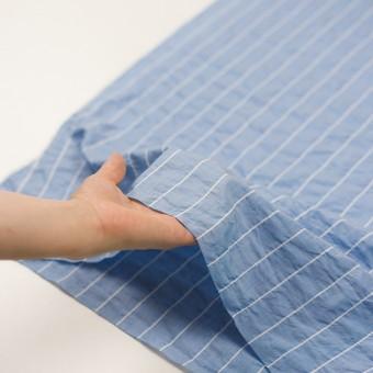 コットン&ポリエステル混×ストライプ(ブルー)×ローンシャーリング_全2色 サムネイル5