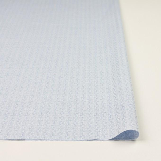 コットン×幾何学模様(ペールブルー)×ジャガード イメージ3