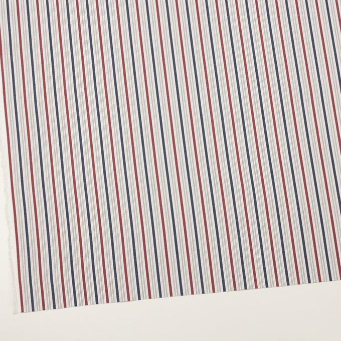 コットン×ストライプ(バーガンディー&アッシュネイビー)×ジャガード_全2色 イメージ2