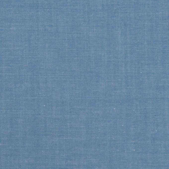 コットン×無地(サックスブルー)×シャンブレー・サージ イメージ1
