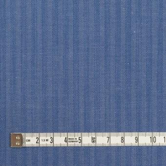 コットン&ナイロン×無地(オリエンタルブルー)×ヘリンボーン サムネイル4