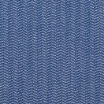 コットン&ナイロン×無地(オリエンタルブルー)×ヘリンボーン