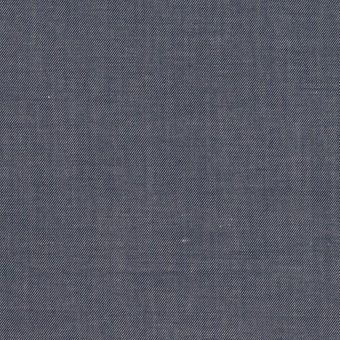 コットン&レーヨン×無地(アッシュネイビー)×シャンブレー・サージ