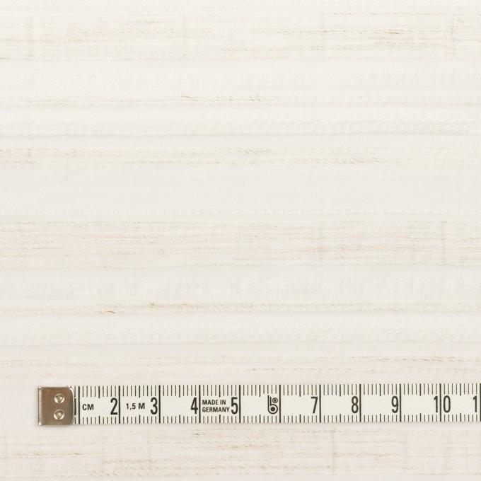 ナイロン&リネン混×ボーダー(エクリュ)×オーガンジー・ジャガード イメージ4