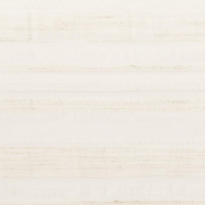 ナイロン&リネン混×ボーダー(エクリュ)×オーガンジー・ジャガード イメージ1