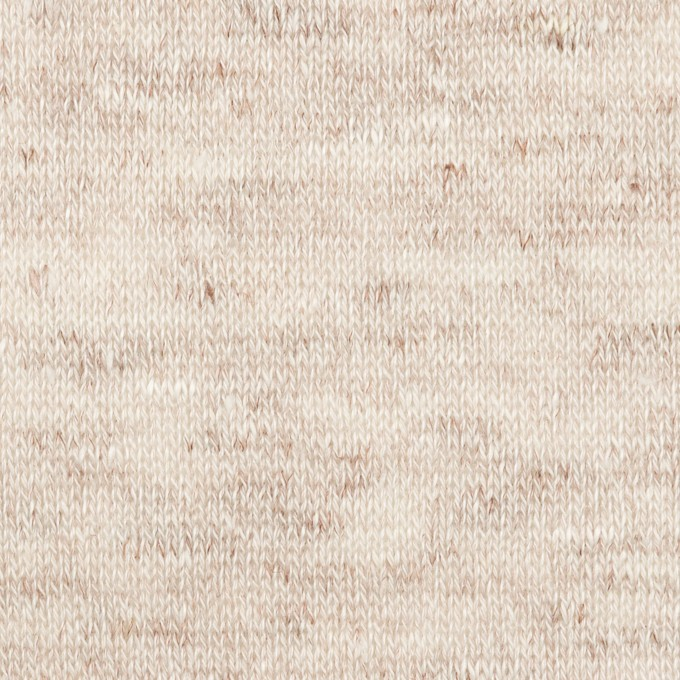リネン×無地(オートミール)×天竺ニット イメージ1