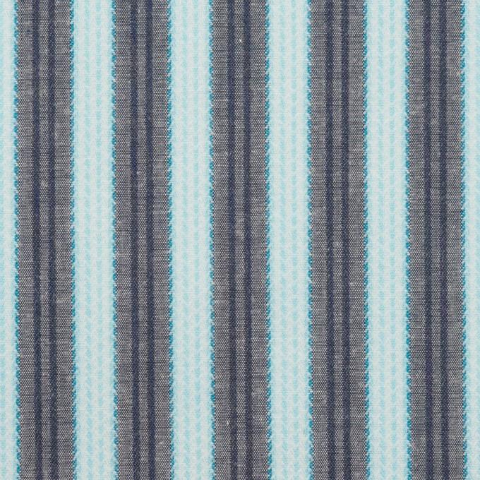 コットン×ストライプ(サックス&グレー)×ジャガード イメージ1
