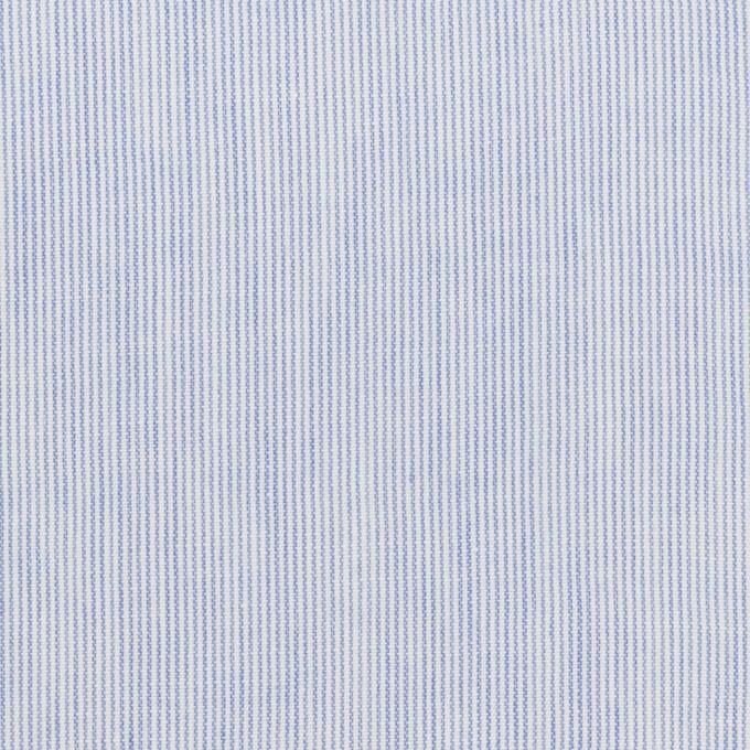 コットン&リネン×ストライプ(サックスブルー)×ローンワッシャー イメージ1