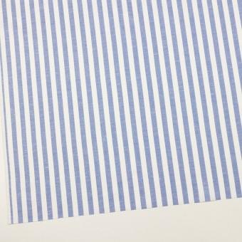 コットン&リネン×ストライプ(ヒヤシンスブルー)×斜子織 サムネイル2