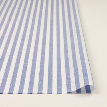 コットン&リネン×ストライプ(ヒヤシンスブルー)×斜子織 サムネイル3