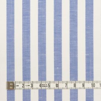 コットン&リネン×ストライプ(ヒヤシンスブルー)×斜子織 サムネイル4