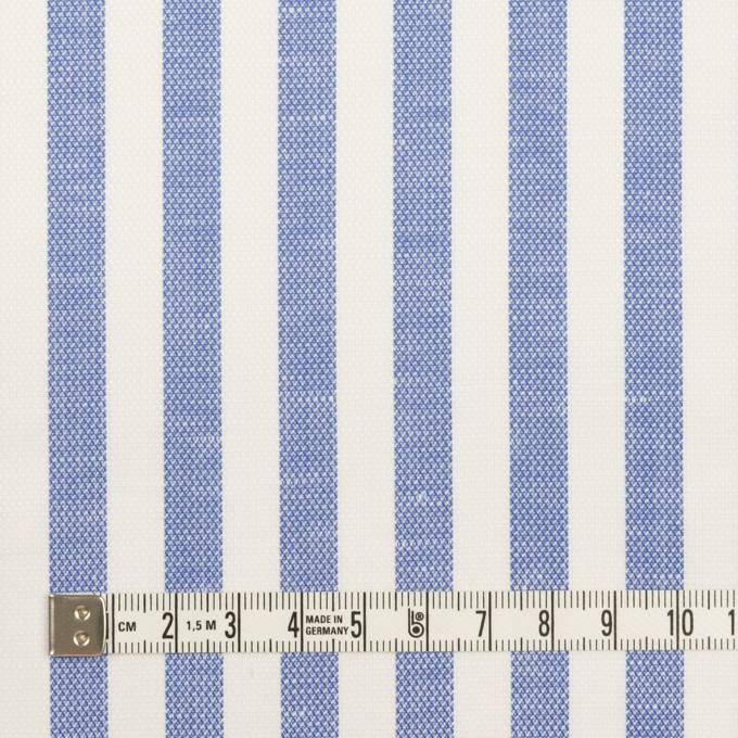 コットン&リネン×ストライプ(ヒヤシンスブルー)×斜子織 イメージ4
