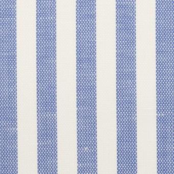 コットン&リネン×ストライプ(ヒヤシンスブルー)×斜子織