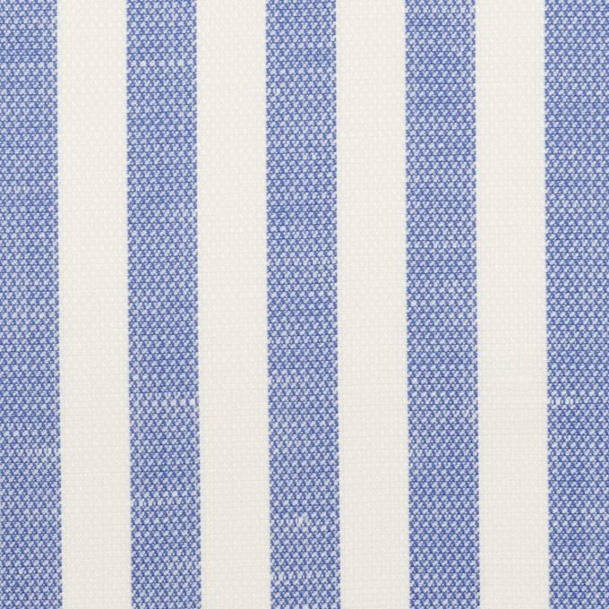 コットン&リネン×ストライプ(ヒヤシンスブルー)×斜子織 イメージ1