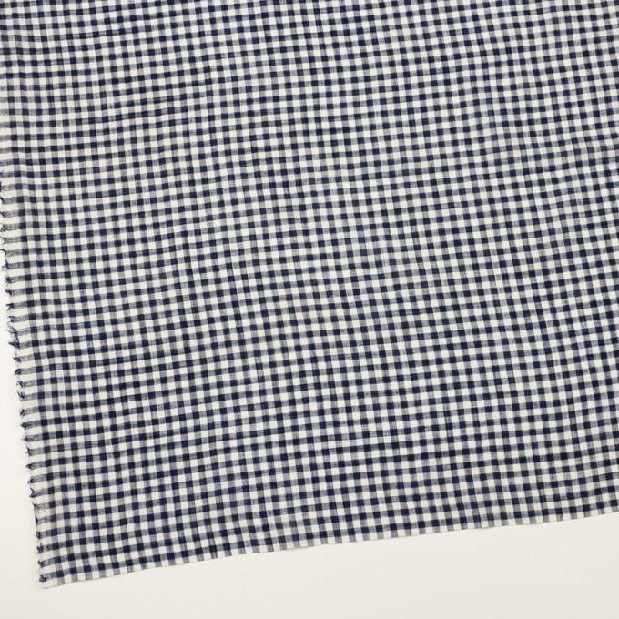 コットン&リネン×チェック(ネイビー)×薄シーチング イメージ2