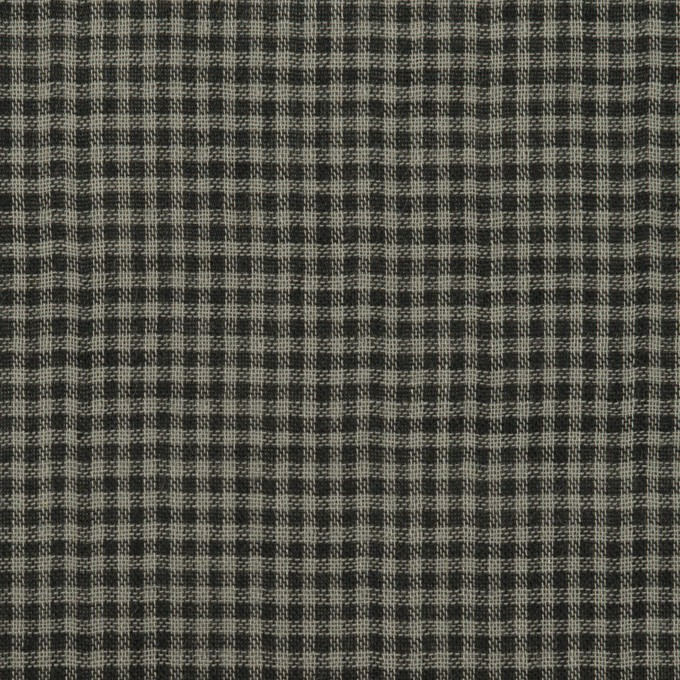 コットン×チェック(チャコールグレー)×Wガーゼ イメージ1