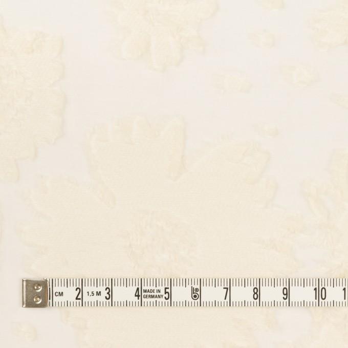 コットン&ナイロン×フラワー(エクリュ)×オーガンジー・カットジャガード イメージ4