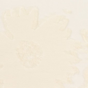 コットン&ナイロン×フラワー(エクリュ)×オーガンジー・カットジャガード