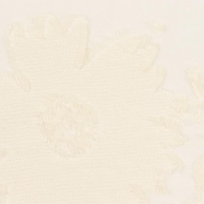 コットン&ナイロン×フラワー(エクリュ)×オーガンジー・カットジャガード イメージ1