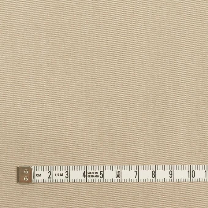 コットン&ポリウレタン×無地(ベージュ)×サージストレッチ_全4色 イメージ4