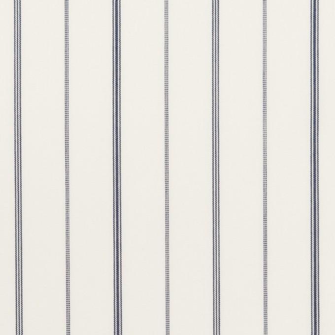 コットン&ポリエステル×ストライプ(チャコール)×ローン イメージ1