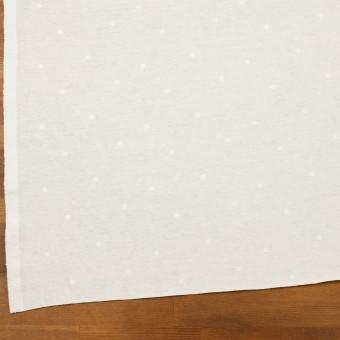コットン×水玉(オフホワイト)×天竺ニット刺繍 サムネイル2