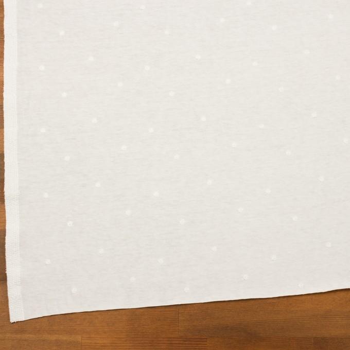 コットン×水玉(オフホワイト)×天竺ニット刺繍 イメージ2