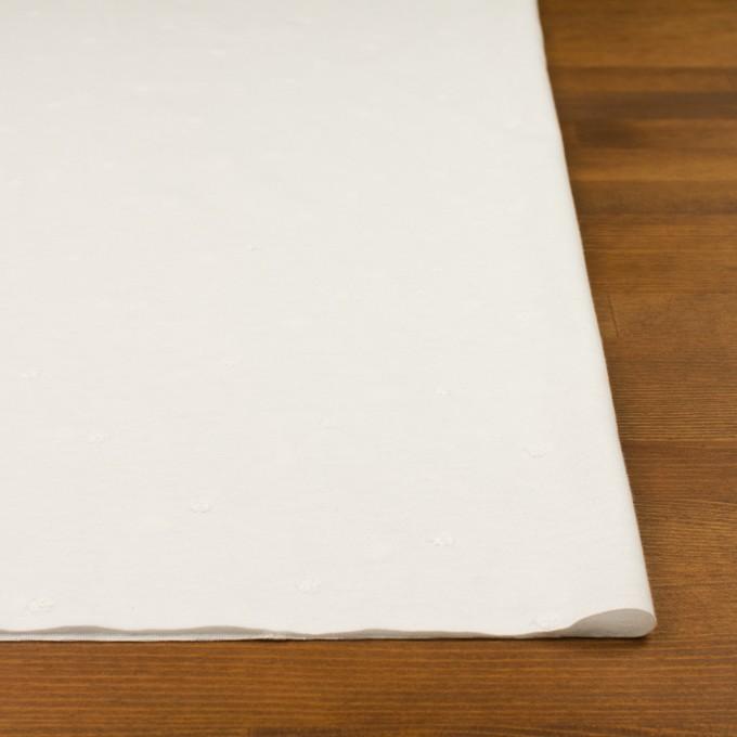 コットン×水玉(オフホワイト)×天竺ニット刺繍 イメージ3