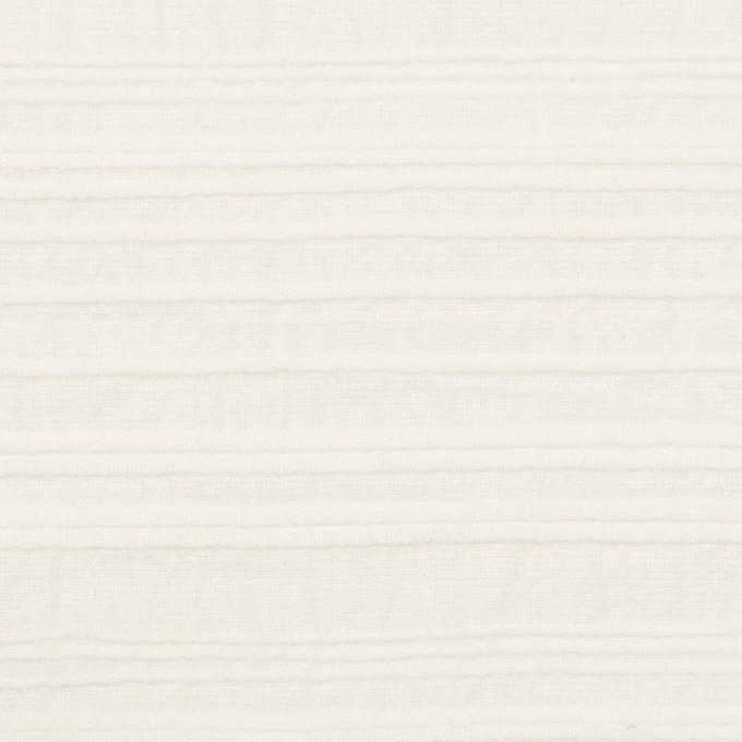 コットン×ボーダー(オフホワイト)×ピンタック イメージ1