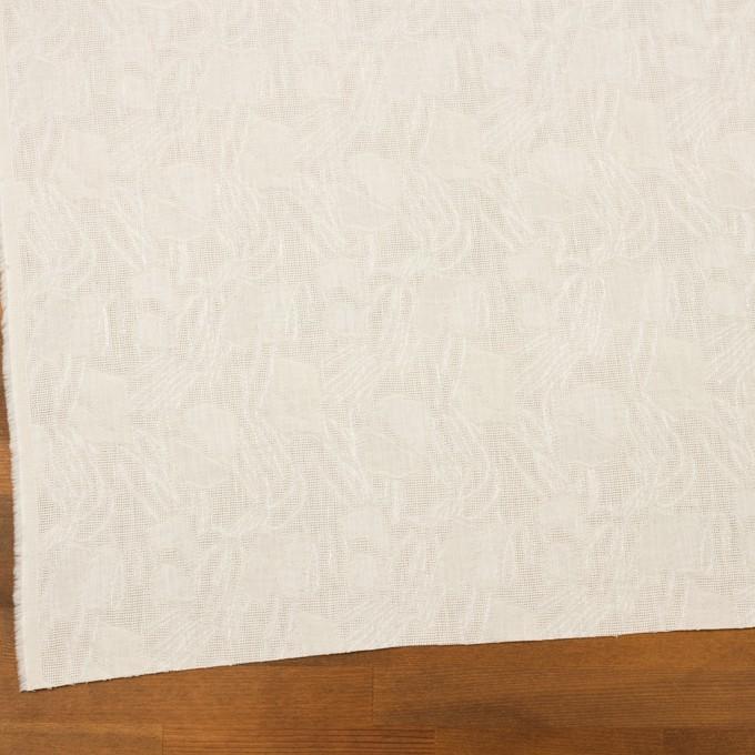 コットン×幾何学模様(エクリュ)×からみ織ジャガード イメージ2