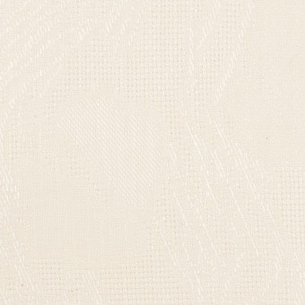 コットン×幾何学模様(エクリュ)×からみ織ジャガード