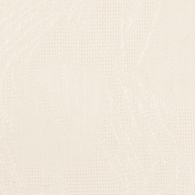 コットン×幾何学模様(エクリュ)×からみ織ジャガード イメージ1