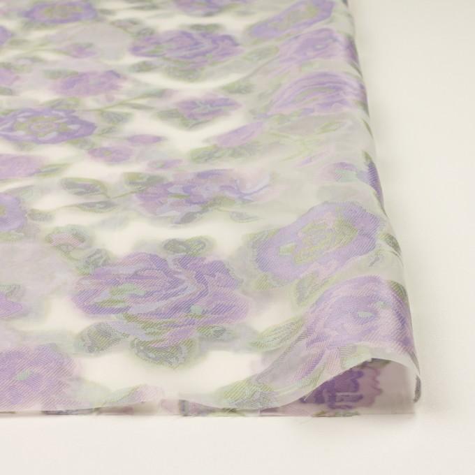 ポリエステル&ナイロン混×フラワー(モーブ)×オーガンジー・カットジャガード イメージ3
