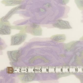 ポリエステル&ナイロン混×フラワー(モーブ)×オーガンジー・カットジャガード サムネイル4
