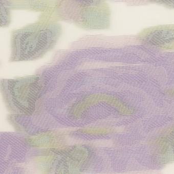 ポリエステル&ナイロン混×フラワー(モーブ)×オーガンジー・カットジャガード サムネイル1