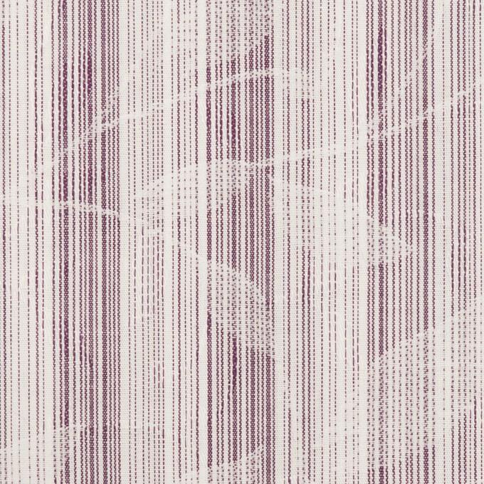 コットン×ストライプ(ボルドー)×ジャガード_全2色 イメージ1